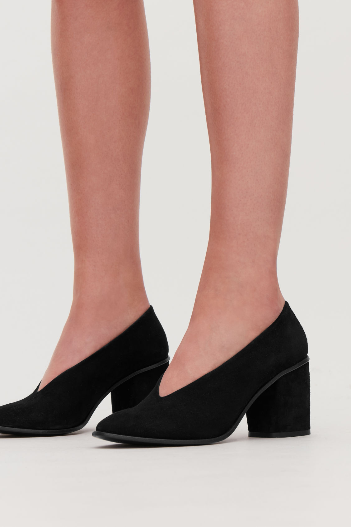 Detailed image of Cos chunky heel pumps in black