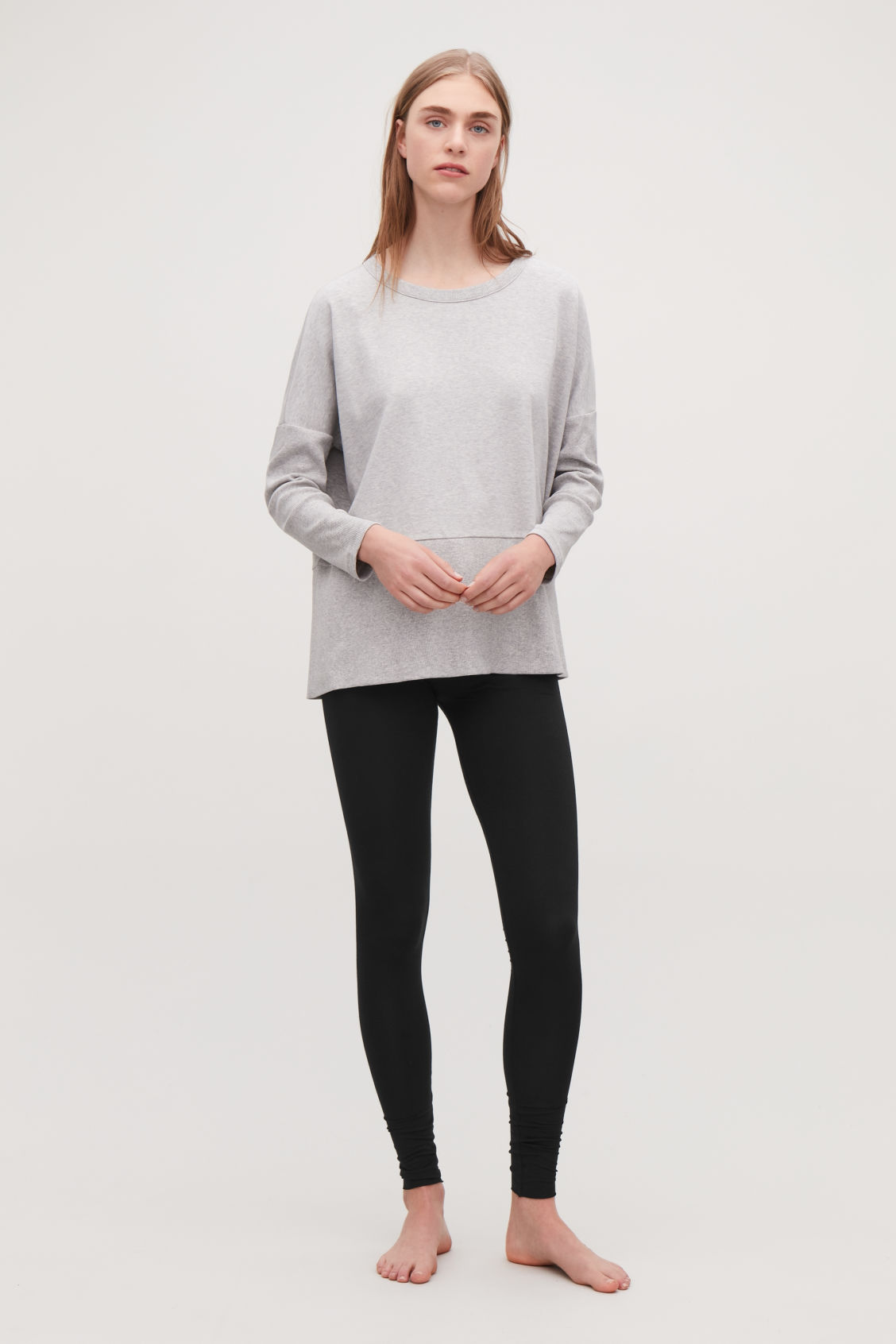 Detailed image of Cos elastic-waist leggings in black