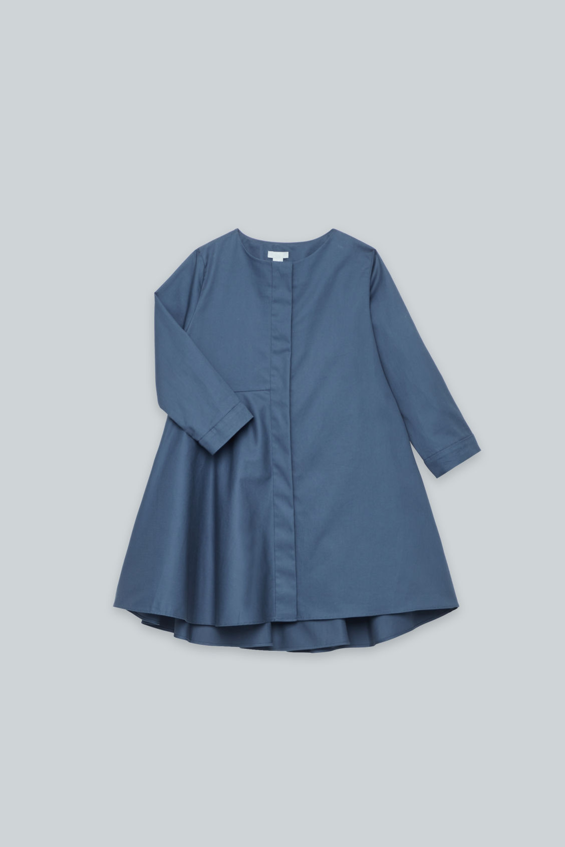 Detailed image of Cos long-sleeved circle-cut dress in blue