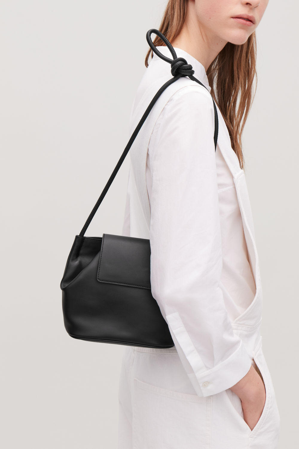 SMALL SHOULDER BAG WITH SOFT FOLD