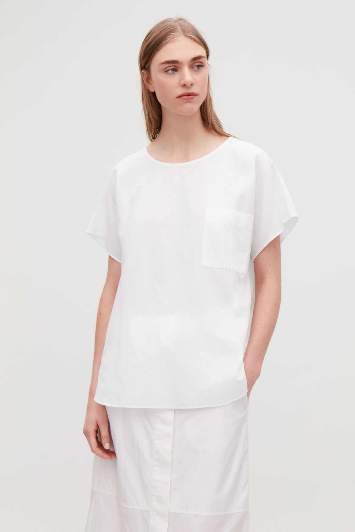 Detailed image of Cos oversized cotton top in white