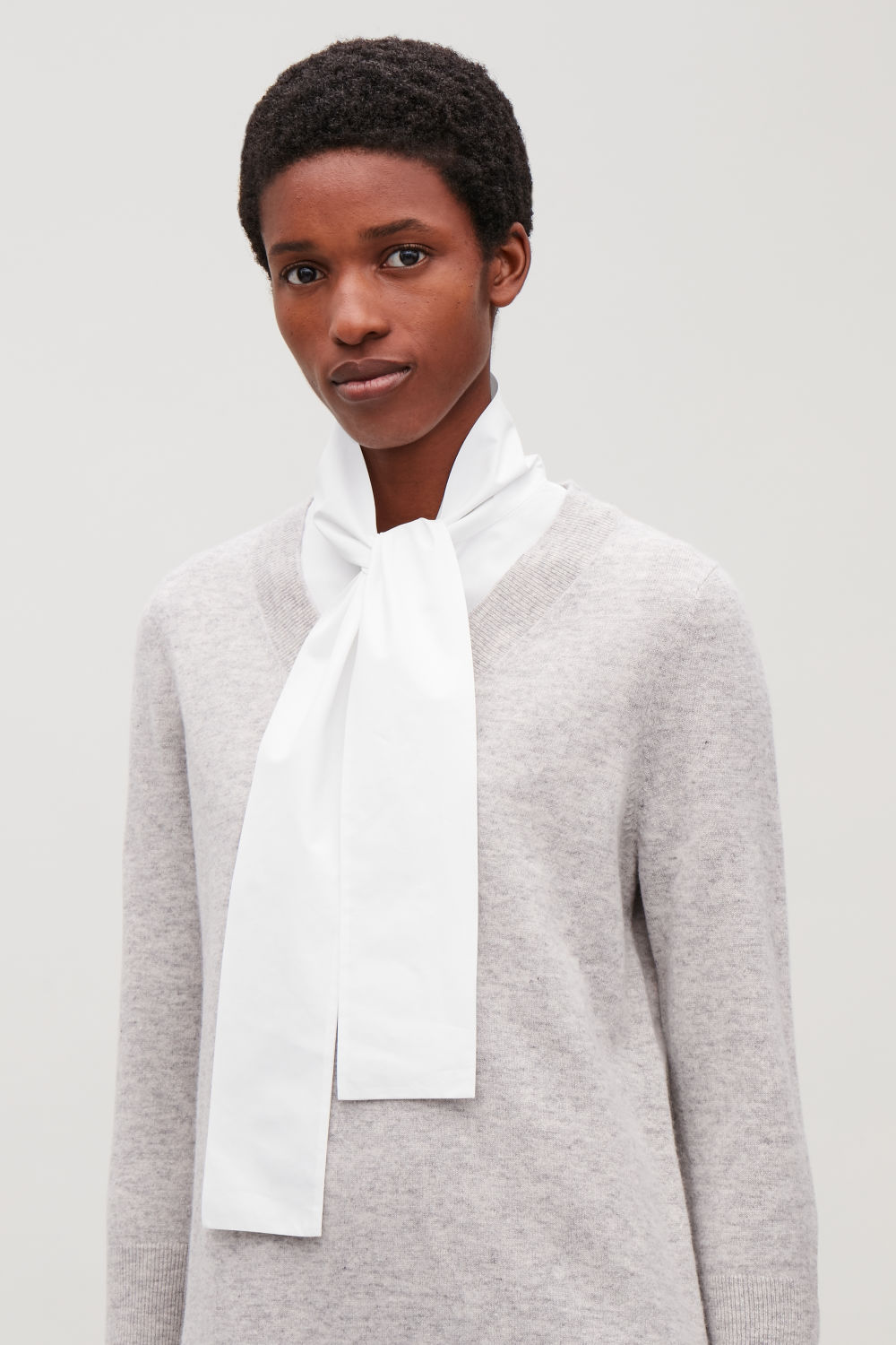 BOW-TIE MOCK SHIRT