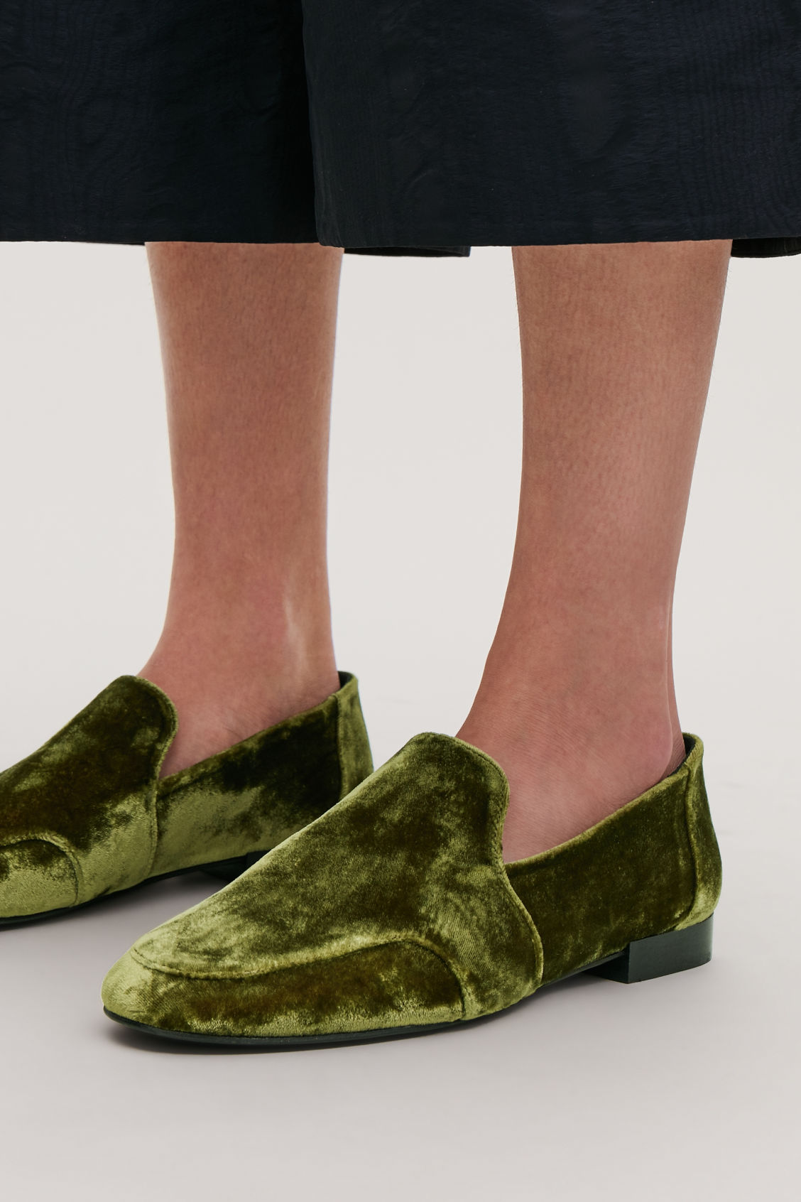 Detailed image of Cos soft loafers in green