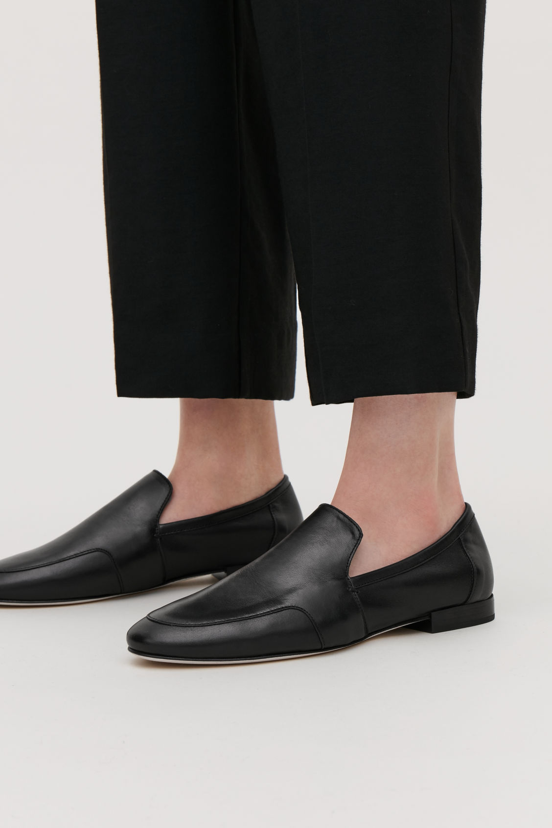 Detailed image of Cos soft loafers in black