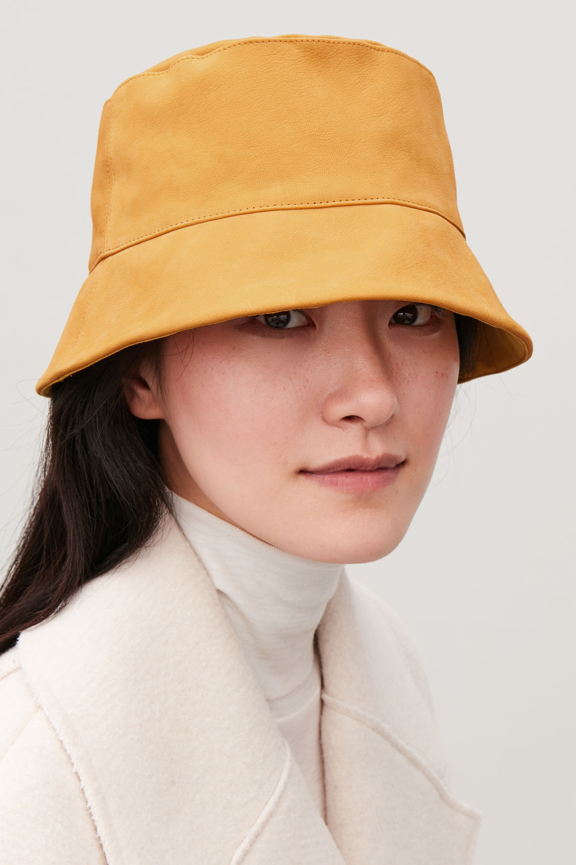 NUBUCK LEATHER BUCKET HAT - Mustard - Hats Scarves and ... de67d2eb2b9