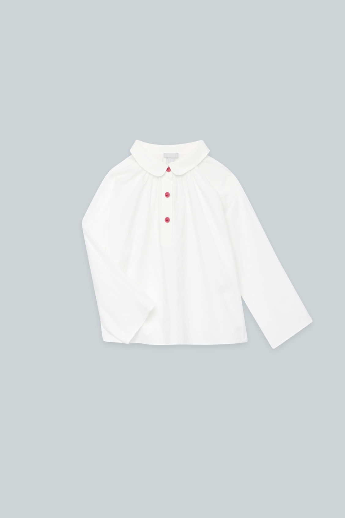 Detailed image of Cos round-collar shirt in white