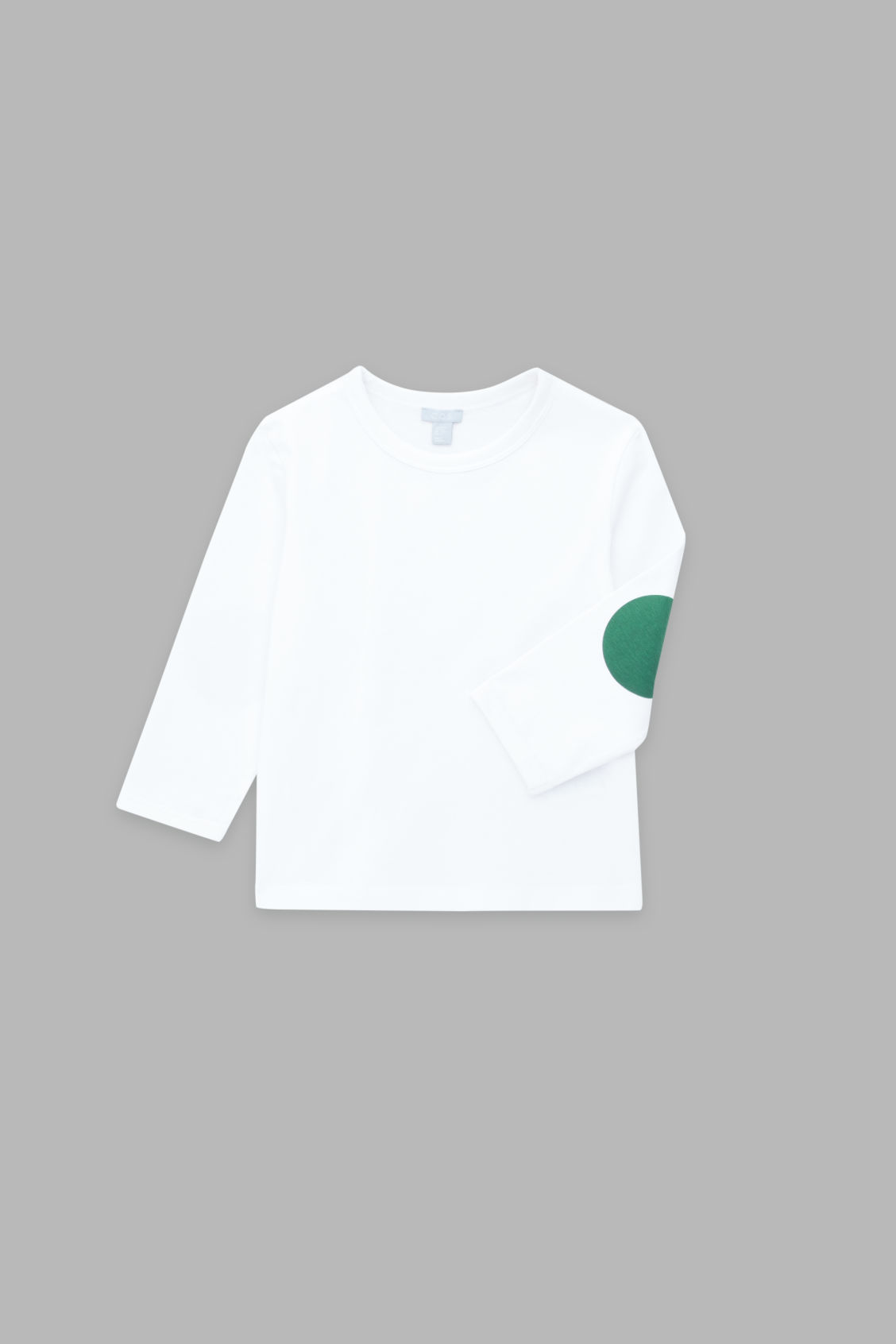 Detailed image of Cos long-sleeved cotton t-shirt in white