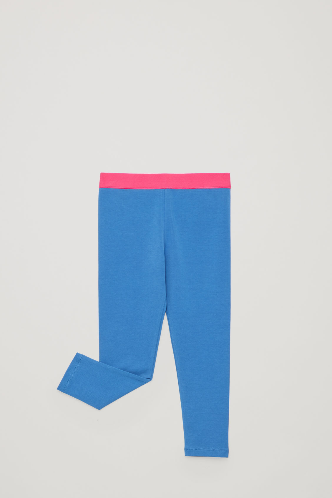 Detailed image of Cos cotton jersey leggings in blue