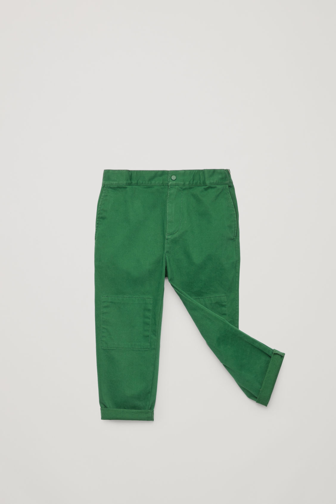 Detailed image of Cos patch-pocket cotton trousers in green