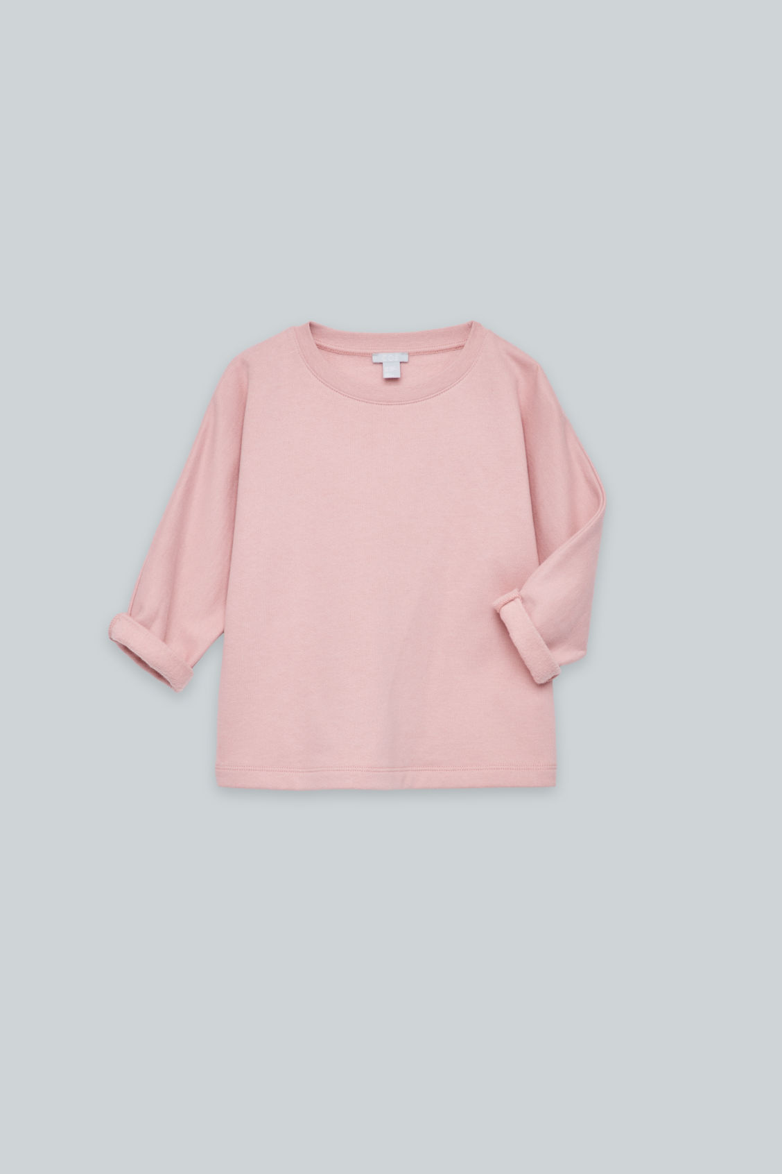 Detailed image of Cos relaxed jersey jumper in pink
