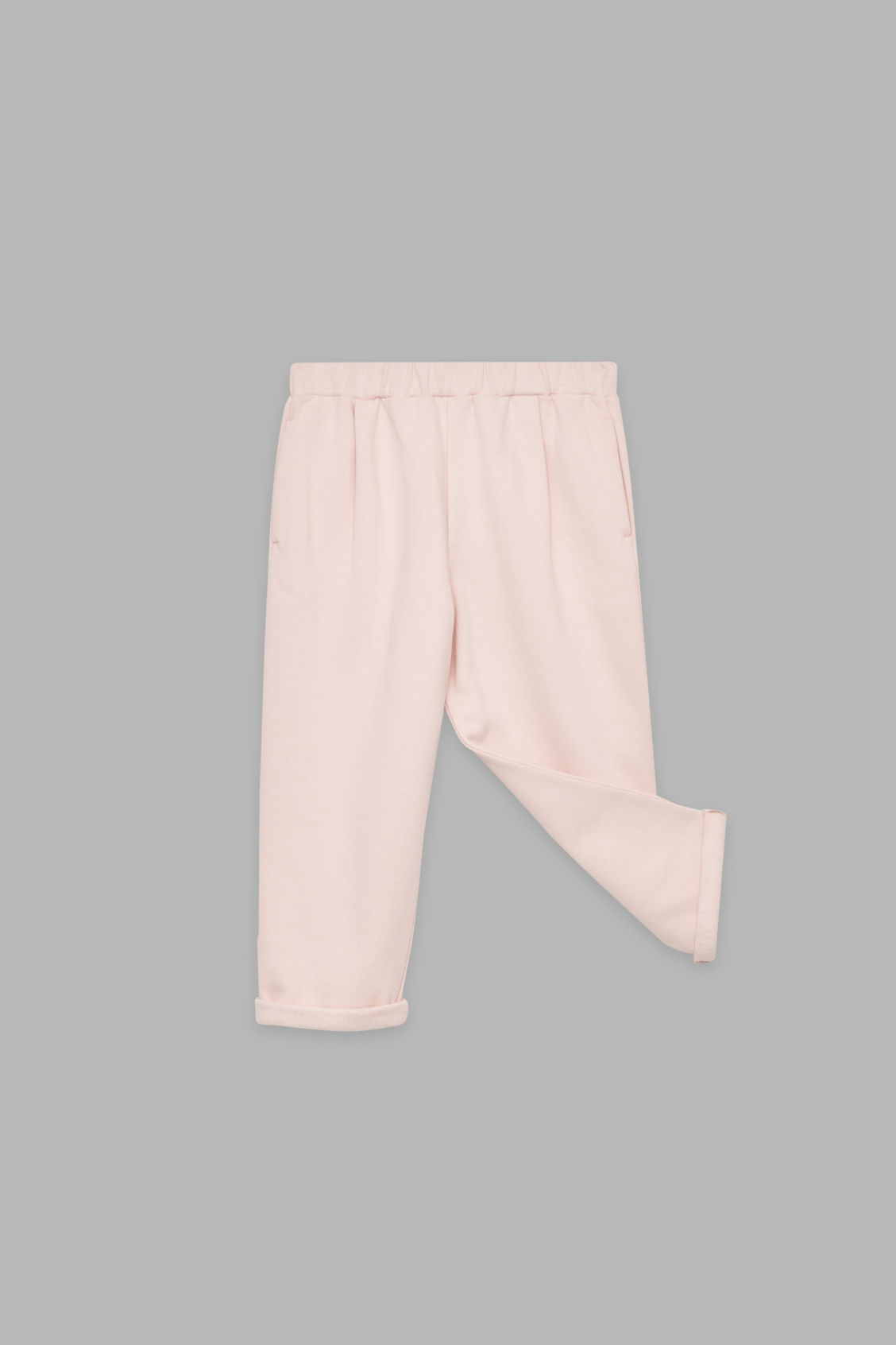 Detailed image of Cos relaxed jersey trousers in pink