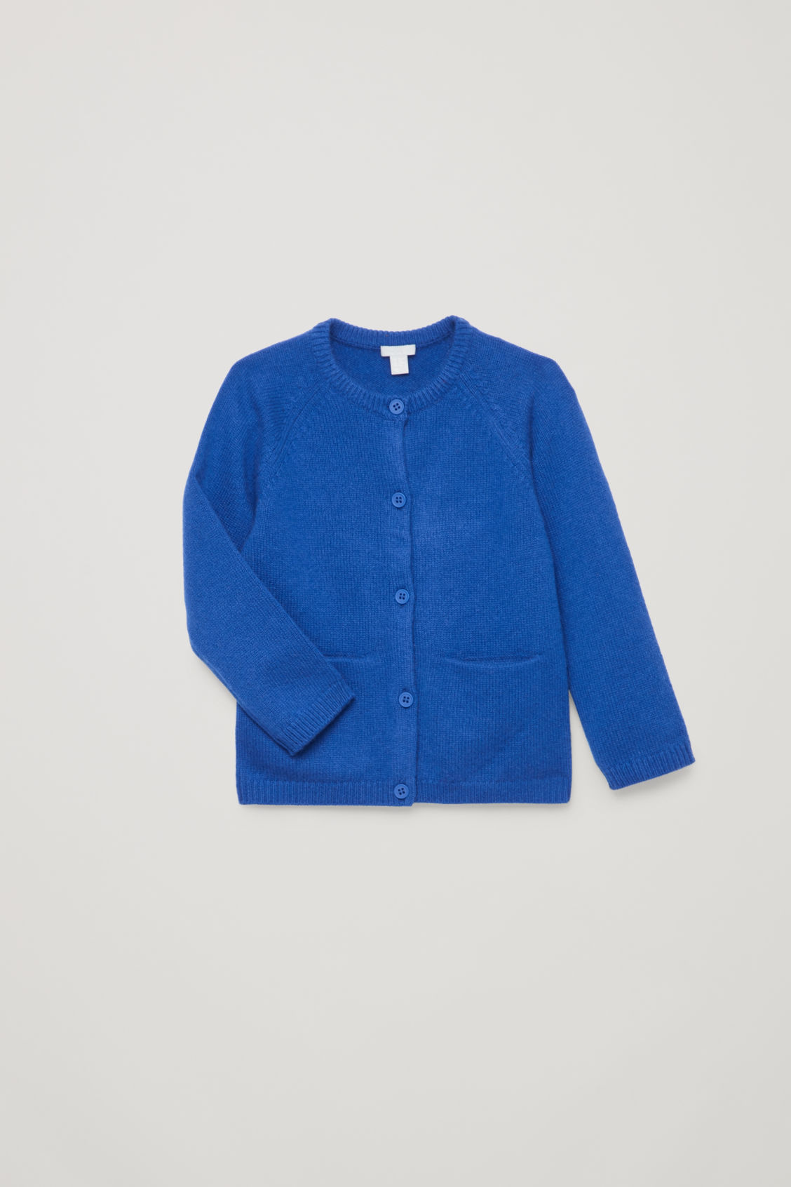 Detailed image of Cos cashmere cardigan in blue