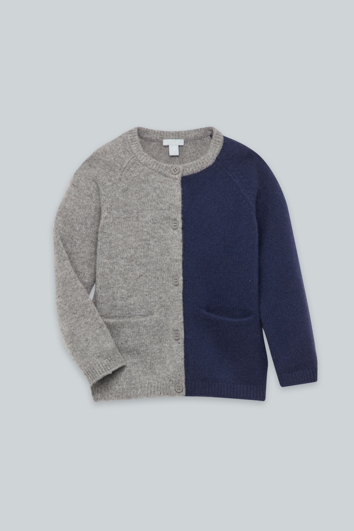 Detailed image of Cos cashmere cardigan in grey