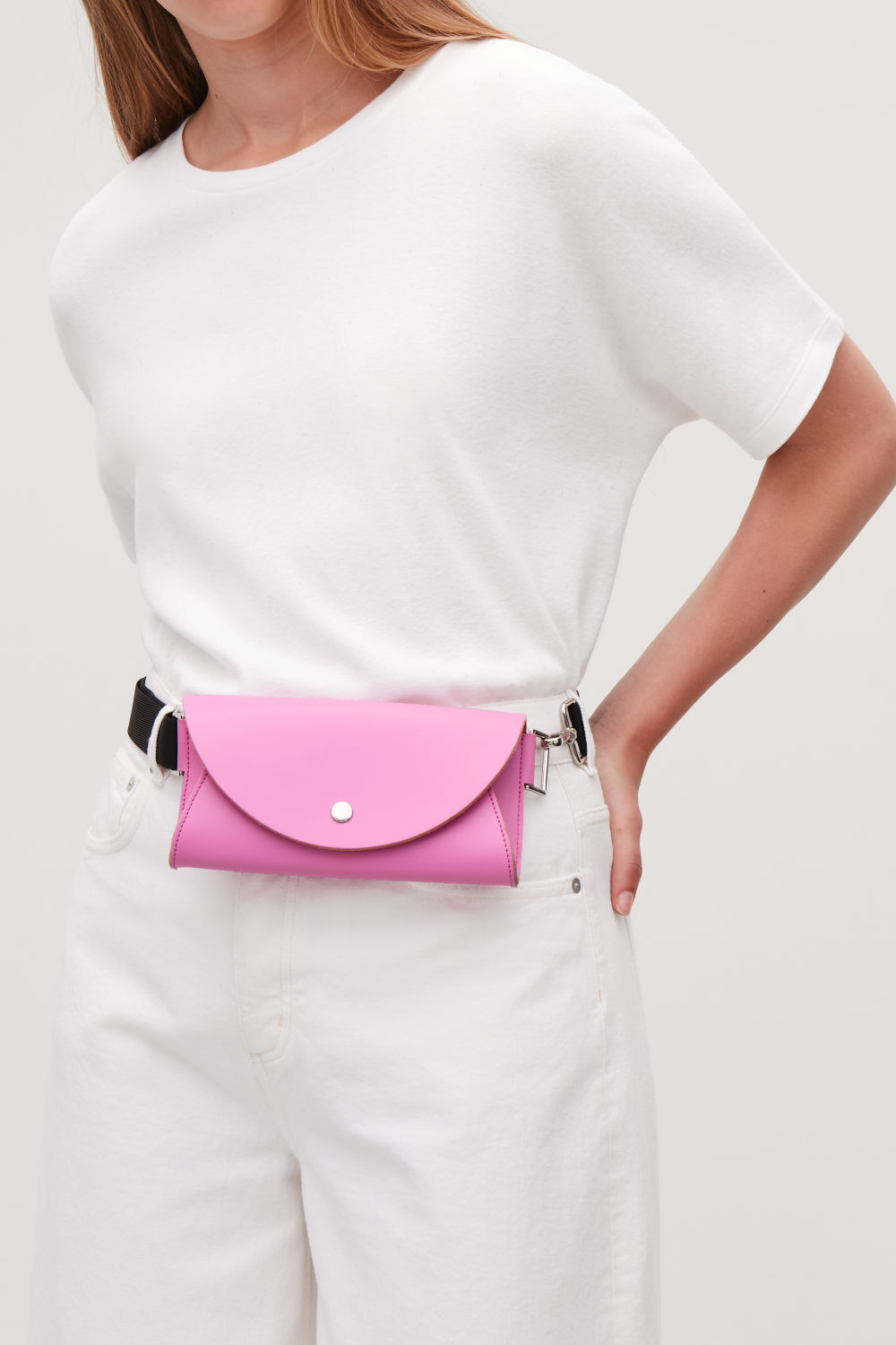 GROSGRAIN-LEATHER BELT BAG