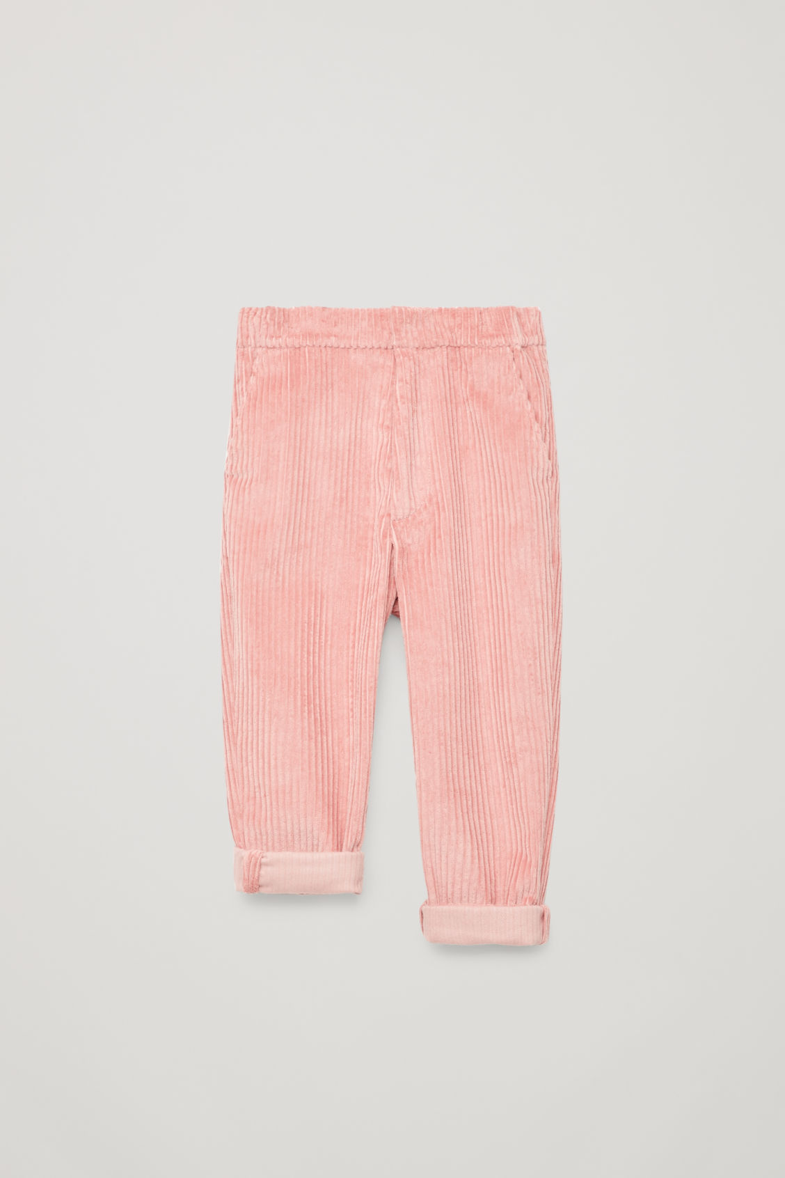 Detailed image of Cos corduroy trousers in pink