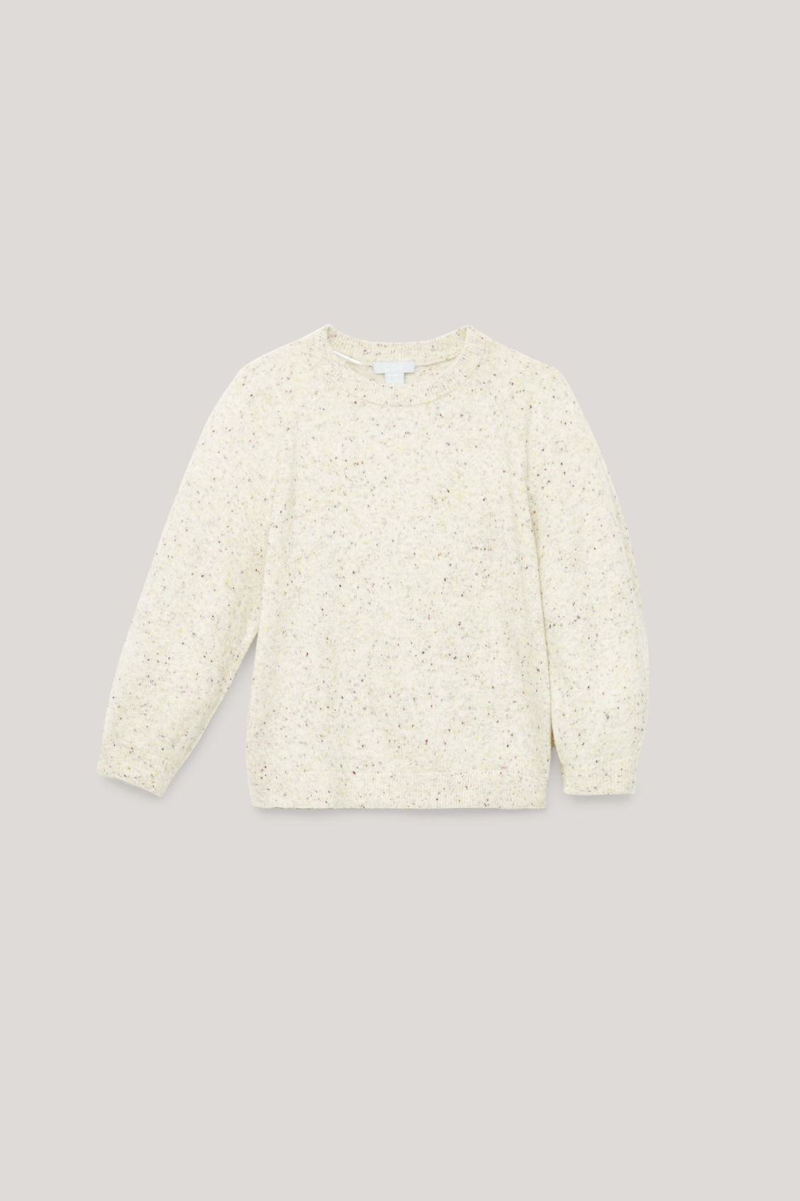 Detailed image of Cos flecked wool jumper  in neutral