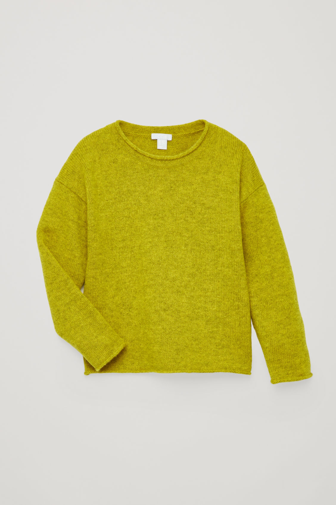 Detailed image of Cos cashmere knitted jumper in yellow