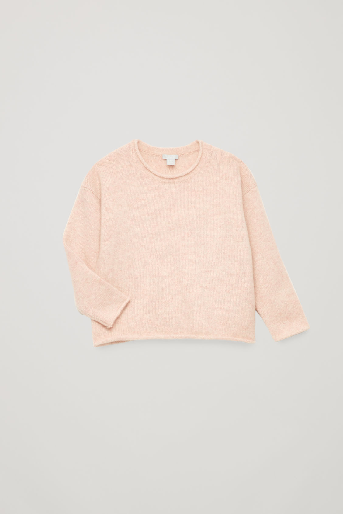 Detailed image of Cos cashmere knitted jumper in pink