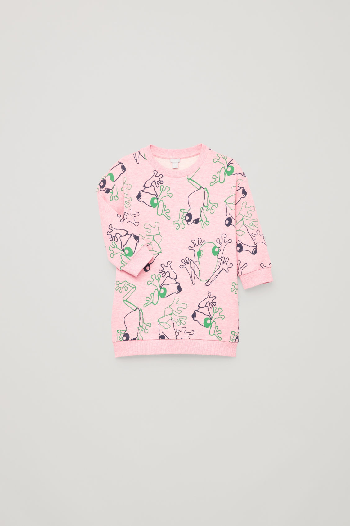 Detailed image of Cos frog print cotton dress in pink