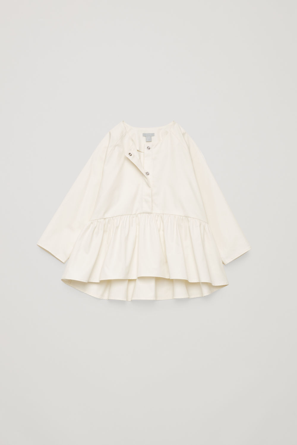 GATHERED-PANEL COTTON SHIRT