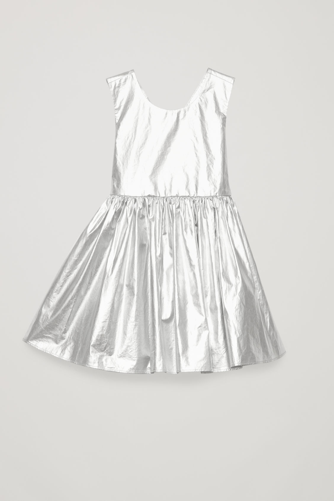 Detailed image of Cos metallic dress in grey