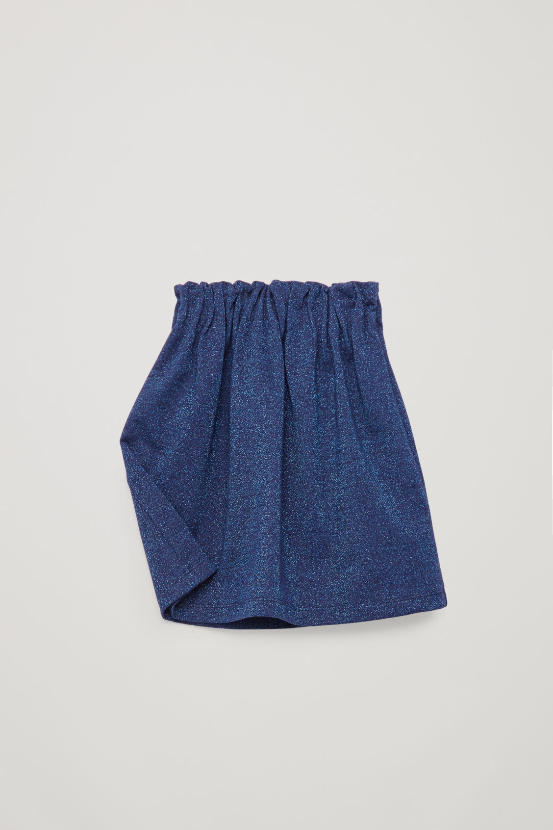 Detailed image of Cos glitter a-line skirt in blue