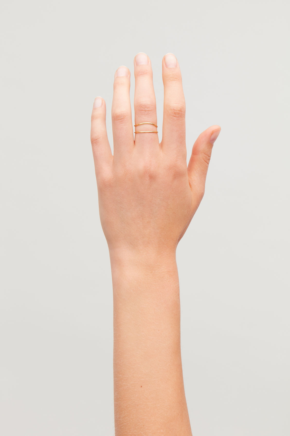 Detailed image of Cos gold-plated stacking rings in gold
