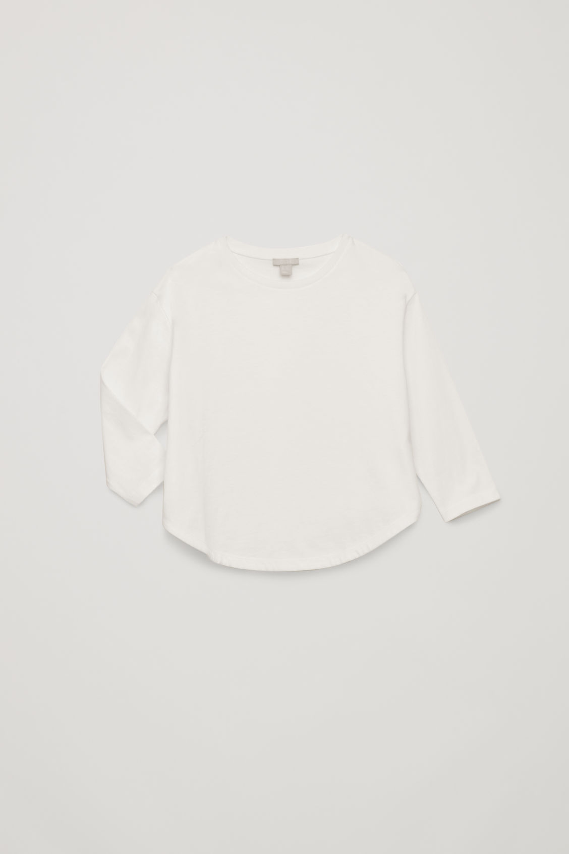 Detailed image of Cos circle-cut jersey top in white