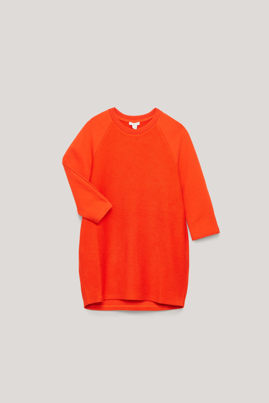 Detailed image of Cos rounded-sleeve jersey dress in orange