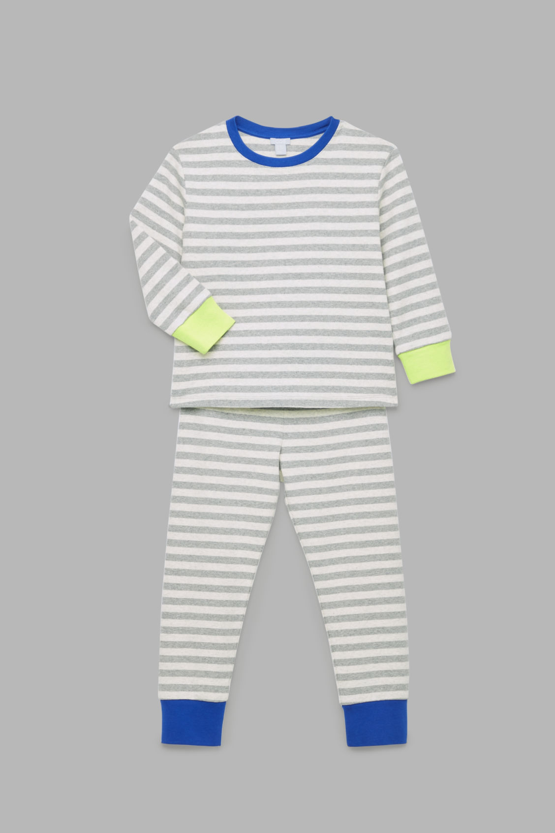 Detailed image of Cos organic-cotton pyjama set in grey