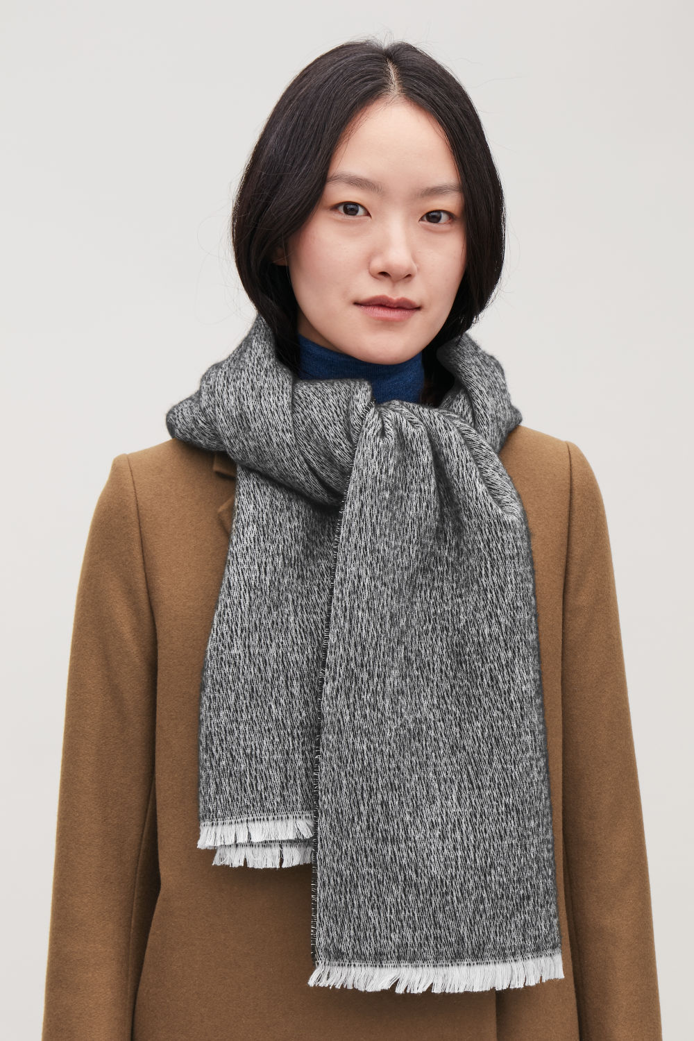 COTTON-WOOL SCARF