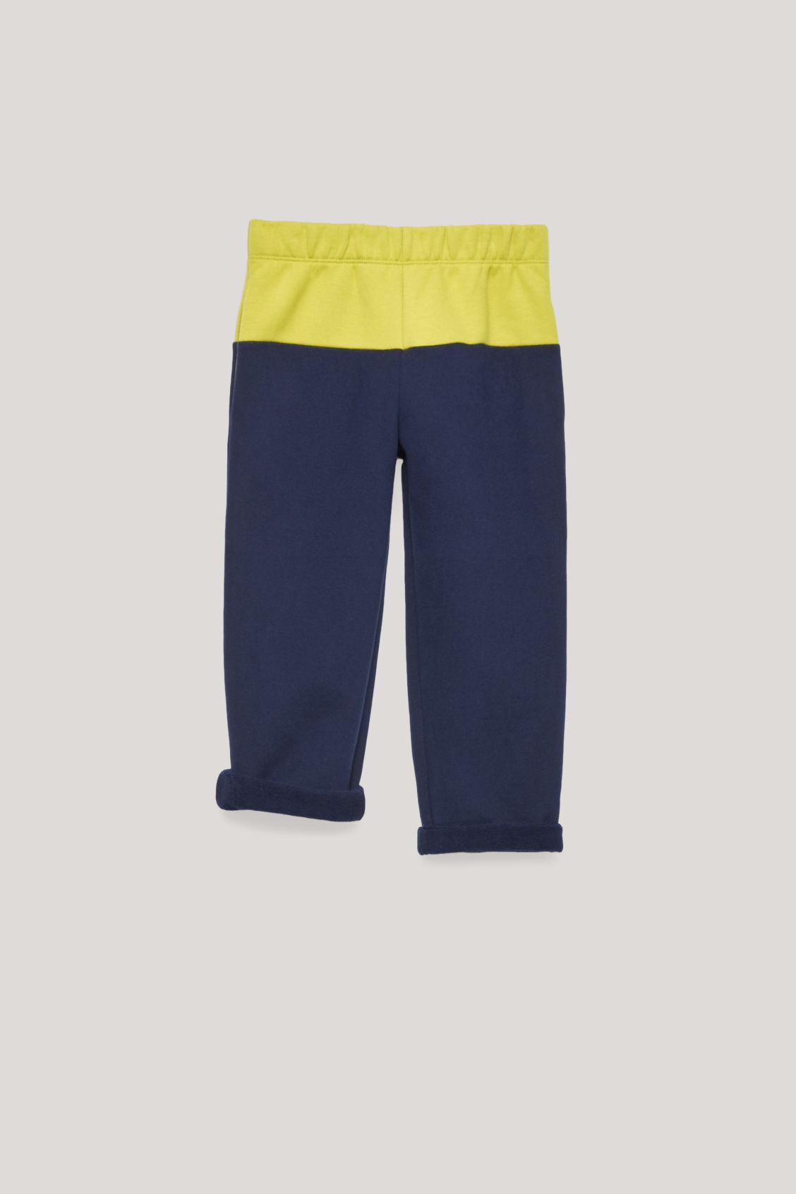 Detailed image of Cos colour-block jersey trousers in blue