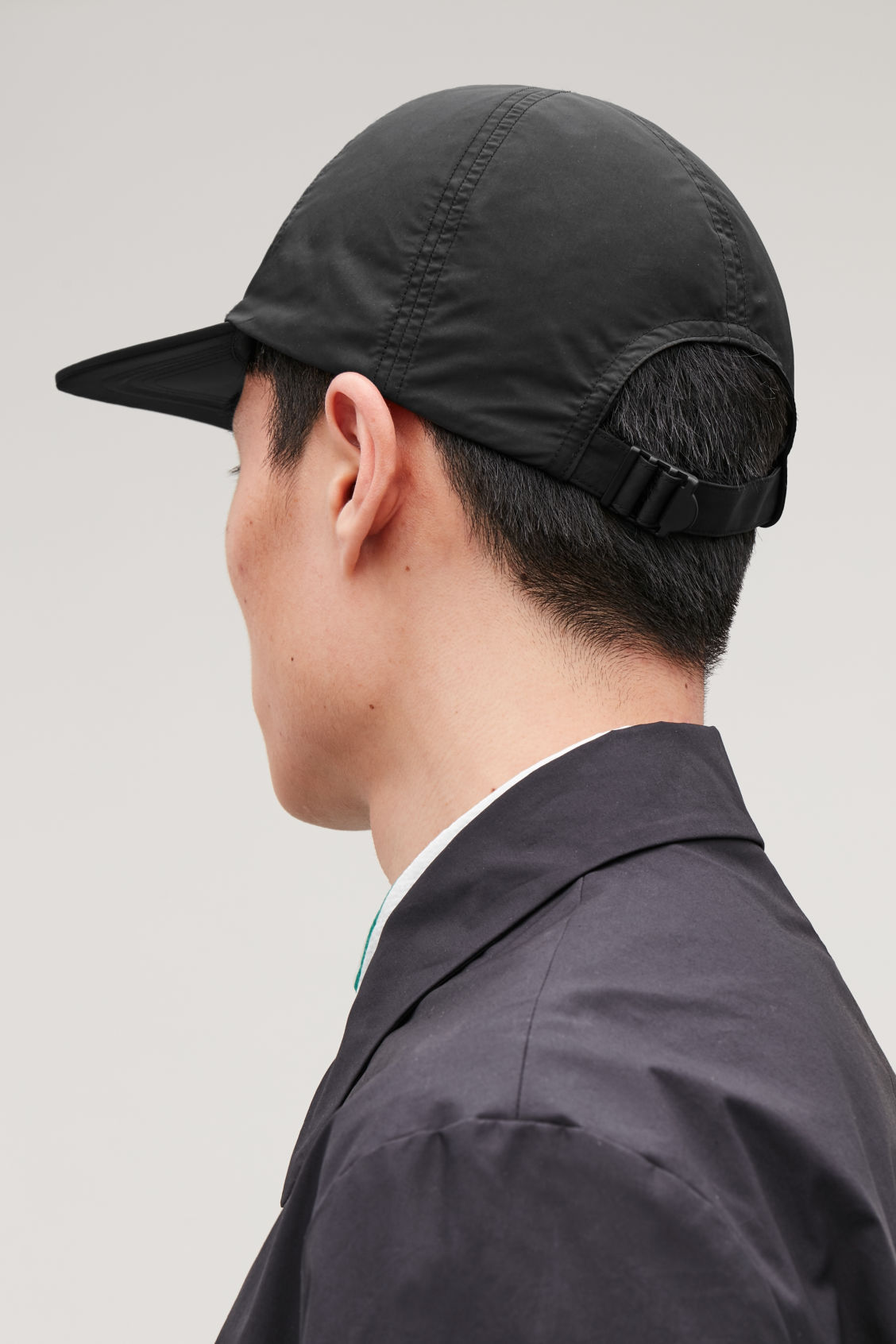 Detailed image of Cos technical soft cap in black