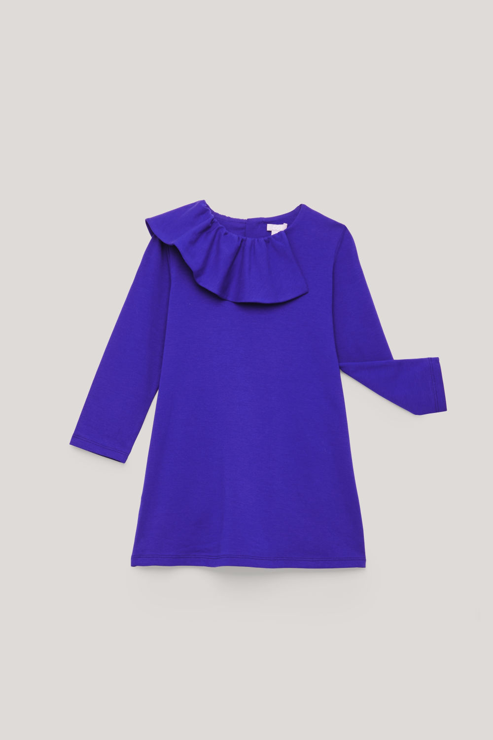 FRILL-TRIMMED JERSEY DRESS