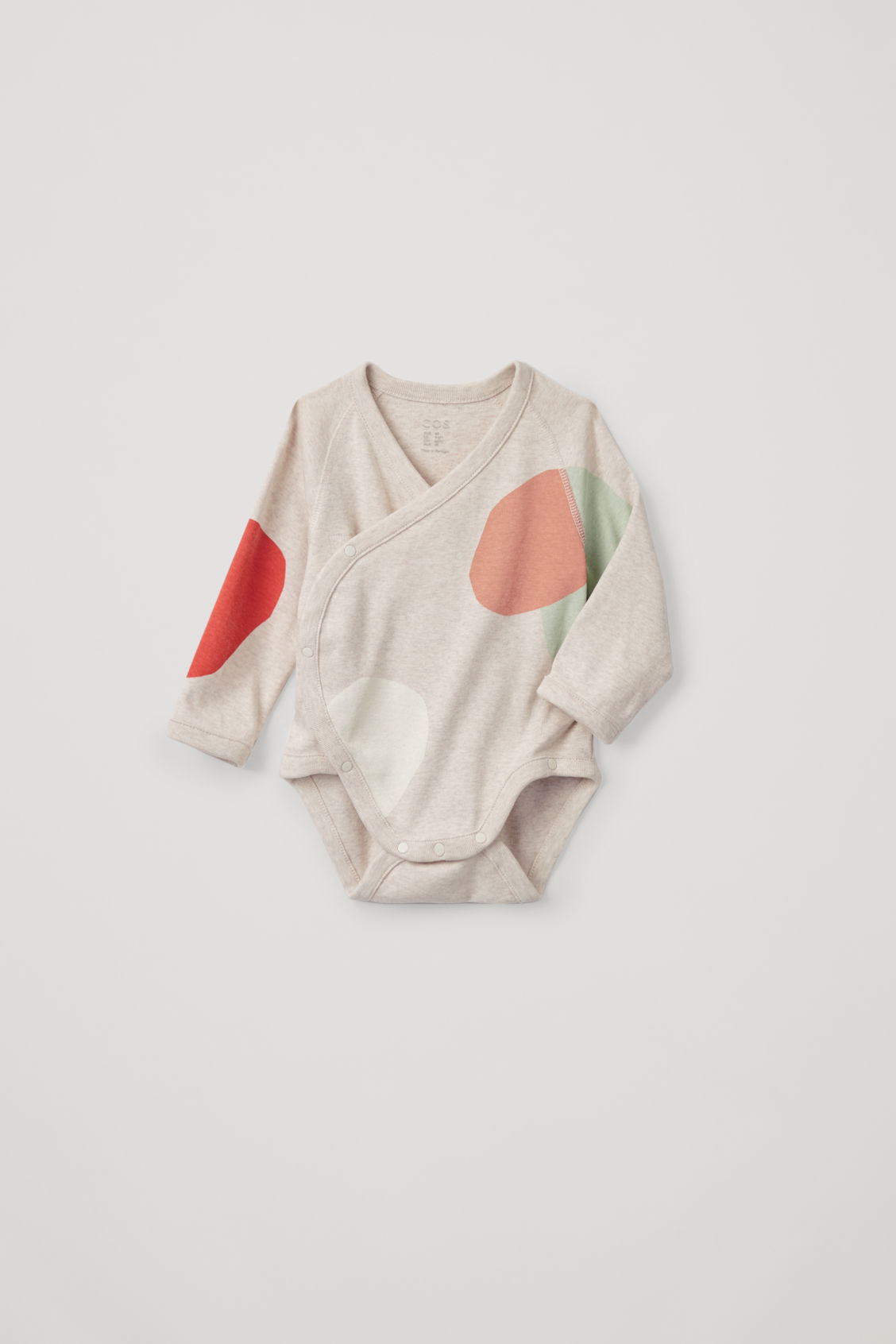 Detailed image of Cos organic-cotton bodysuit in beige